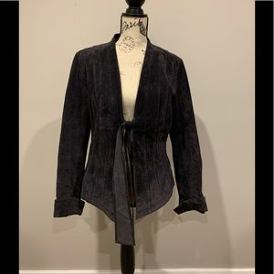 Danier Genuine Leather Pleated Dress Blazer Jacket